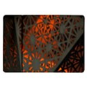 Abstract Lighted Wallpaper Of A Metal Starburst Grid With Orange Back Lighting Samsung Galaxy Tab 10.1  P7500 Flip Case View1