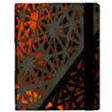 Abstract Lighted Wallpaper Of A Metal Starburst Grid With Orange Back Lighting Samsung Galaxy Tab 10.1  P7500 Flip Case View3