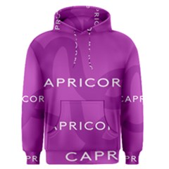 Zodiac Capricorn Purple Men s Pullover Hoodie by Mariart