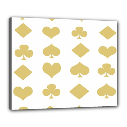 Card Symbols Canvas 20  X 16  by Mariart
