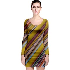 Colourful Lines Long Sleeve Bodycon Dress by Nexatart