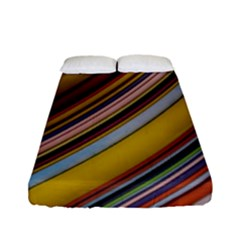 Colourful Lines Fitted Sheet (full/ Double Size) by Nexatart