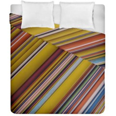 Colourful Lines Duvet Cover Double Side (california King Size) by Nexatart