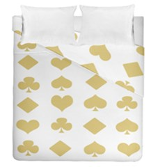 Card Symbols Duvet Cover Double Side (queen Size) by Mariart