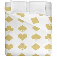 Card Symbols Duvet Cover Double Side (california King Size) by Mariart