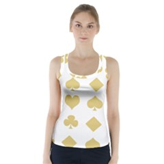 Card Symbols Racer Back Sports Top