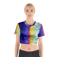 A Creative Colorful Background Cotton Crop Top by Nexatart