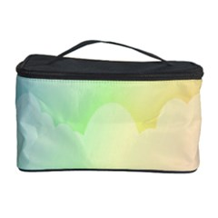Cloud Blue Sky Rainbow Pink Yellow Green Red White Wave Cosmetic Storage Case