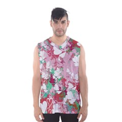Confetti Hearts Digital Love Heart Background Pattern Men s Basketball Tank Top by Nexatart