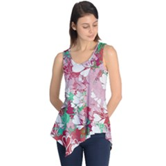 Confetti Hearts Digital Love Heart Background Pattern Sleeveless Tunic by Nexatart