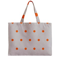 Diamond Polka Dot Grey Orange Circle Spot Zipper Mini Tote Bag by Mariart