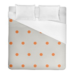 Diamond Polka Dot Grey Orange Circle Spot Duvet Cover (full/ Double Size) by Mariart