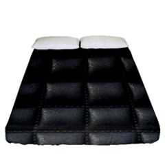 Black Cell Leather Retro Car Seat Textures Fitted Sheet (queen Size) by Nexatart