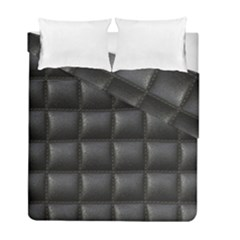 Black Cell Leather Retro Car Seat Textures Duvet Cover Double Side (full/ Double Size) by Nexatart