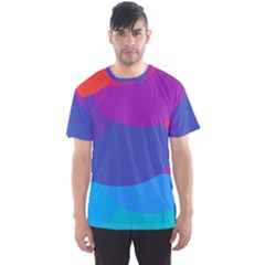 Circles Colorful Balloon Circle Purple Blue Red Orange Men s Sport Mesh Tee by Mariart