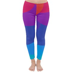 Circles Colorful Balloon Circle Purple Blue Red Orange Classic Winter Leggings by Mariart