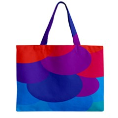 Circles Colorful Balloon Circle Purple Blue Red Orange Zipper Mini Tote Bag by Mariart