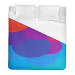 Circles Colorful Balloon Circle Purple Blue Red Orange Duvet Cover (full/ Double Size) by Mariart