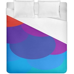 Circles Colorful Balloon Circle Purple Blue Red Orange Duvet Cover (california King Size) by Mariart