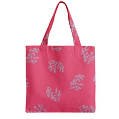 Branch Berries Seamless Red Grey Pink Zipper Grocery Tote Bag by Mariart