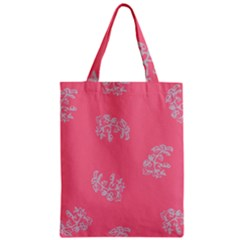 Branch Berries Seamless Red Grey Pink Zipper Classic Tote Bag by Mariart