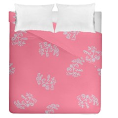 Branch Berries Seamless Red Grey Pink Duvet Cover Double Side (queen Size) by Mariart