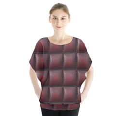 Red Cell Leather Retro Car Seat Textures Blouse