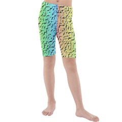 A Creative Colorful Background Kids  Mid Length Swim Shorts by Nexatart