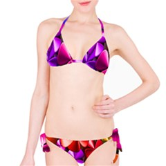Colorful Flower Floral Rainbow Bikini Set by Mariart