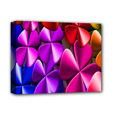 Colorful Flower Floral Rainbow Deluxe Canvas 14  X 11  by Mariart