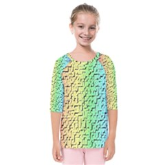 A Creative Colorful Background Kids  Quarter Sleeve Raglan Tee
