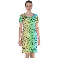 A Creative Colorful Background Short Sleeve Nightdress