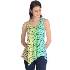 A Creative Colorful Background Sleeveless Tunic