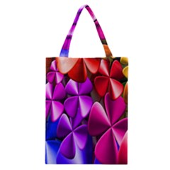 Colorful Flower Floral Rainbow Classic Tote Bag by Mariart