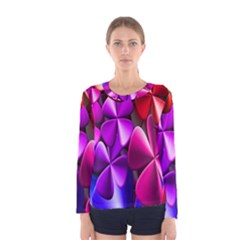 Colorful Flower Floral Rainbow Women s Long Sleeve Tee by Mariart