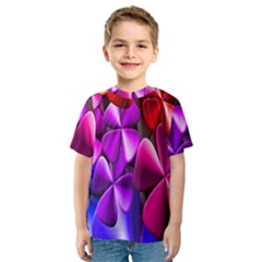 Colorful Flower Floral Rainbow Kids  Sport Mesh Tee