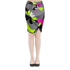 Abstract Illustration Nameless Fantasy Midi Wrap Pencil Skirt