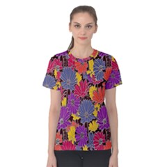 Colorful Floral Pattern Background Women s Cotton Tee by Nexatart