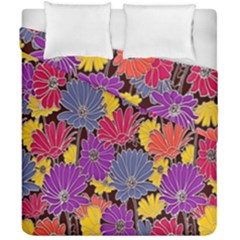Colorful Floral Pattern Background Duvet Cover Double Side (california King Size)