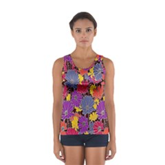Colorful Floral Pattern Background Women s Sport Tank Top  by Nexatart