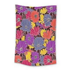 Colorful Floral Pattern Background Small Tapestry by Nexatart