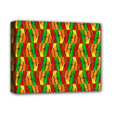 Colorful Wooden Background Pattern Deluxe Canvas 14  X 11