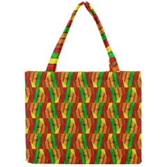 Colorful Wooden Background Pattern Mini Tote Bag by Nexatart