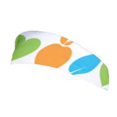 Fruit Apple Orange Green Blue Stretchable Headband by Mariart