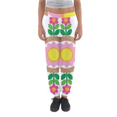 Flower Floral Sunflower Sakura Star Leaf Women s Jogger Sweatpants by Mariart