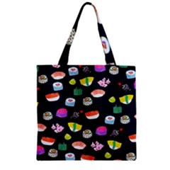 Japanese Food Sushi Fish Zipper Grocery Tote Bag by Mariart