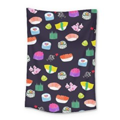 Japanese Food Sushi Fish Small Tapestry by Mariart