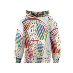 Colorful Fish Animals Rainbow Kids  Pullover Hoodie by Mariart