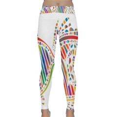Colorful Fish Animals Rainbow Classic Yoga Leggings by Mariart