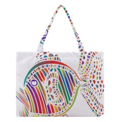 Colorful Fish Animals Rainbow Medium Tote Bag by Mariart